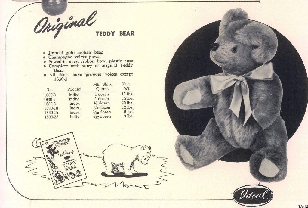 Az eredeti Teddy mackó