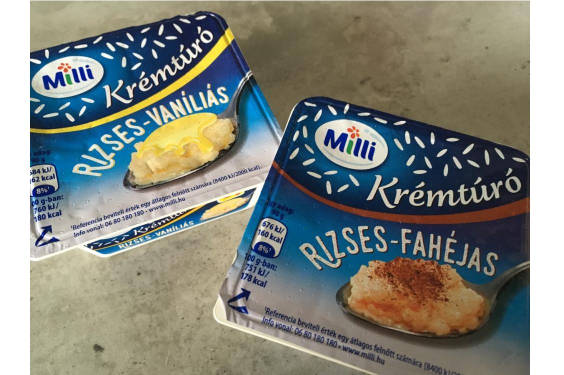 Új termék figyelő: Milli krémtúró rizses-vaníliás, rizses-fahéjas