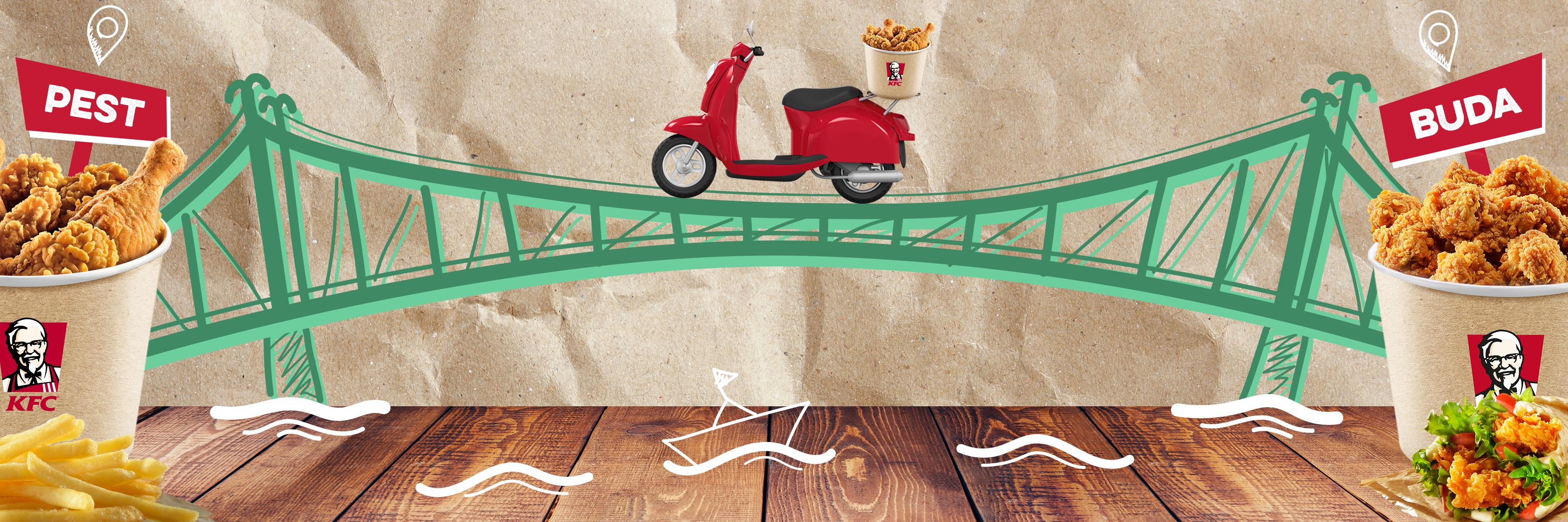 Hídhozszállítást vállal a KFC