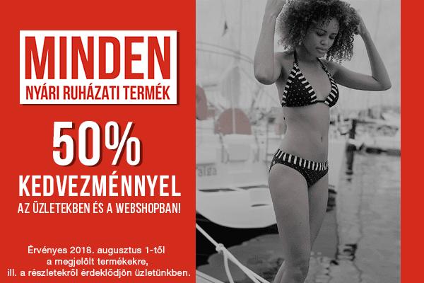 Budmil - minden nyári ruházat 50%