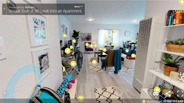 Walmart újdonság – 3D-s szobákban lehet vásárolni