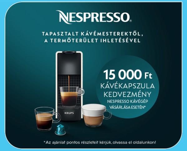 Nespresso kávékapszula kedvezmény