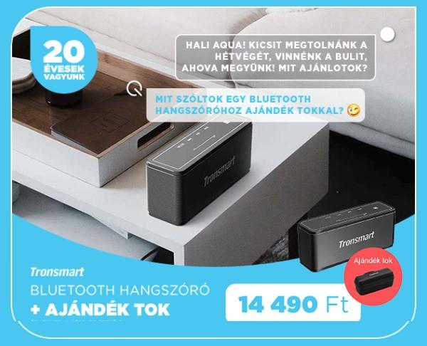 Tronsmart Element Mega Bluetooth hangszóró fekete /T3/ + ajándék tok