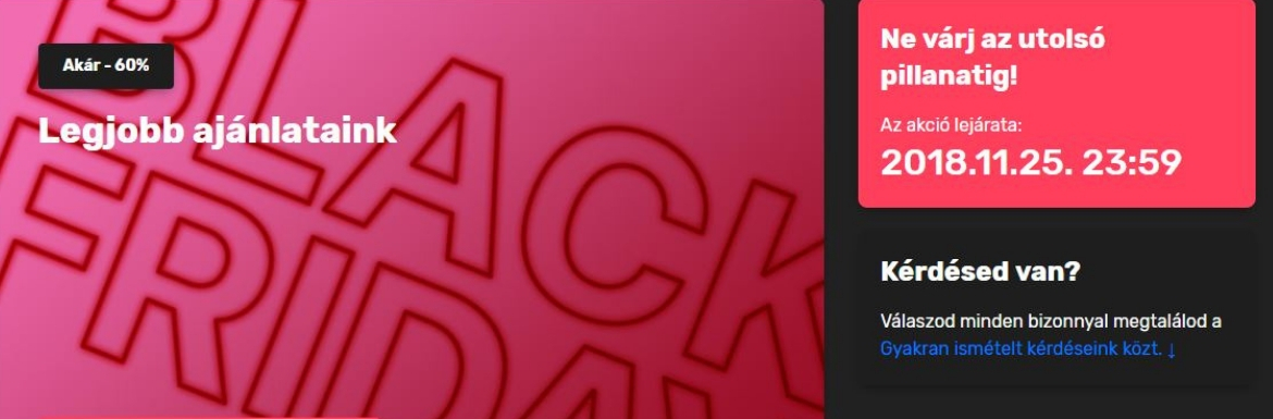 Black Friday – iPhone és Apple MacBook akció