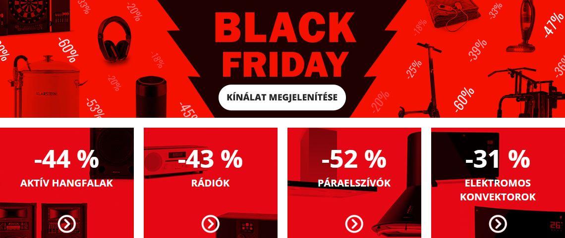 Megőrülsz! Az Electronic Star már elkezdte a Black Friday akcióját!