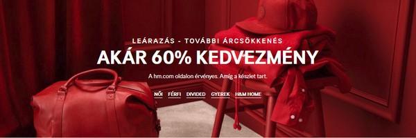 H&M akciók - akár 60% kedvezmény