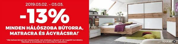 Hálószoba bútor akció - kika