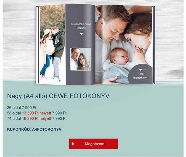 CEWE fotókönyv akció!