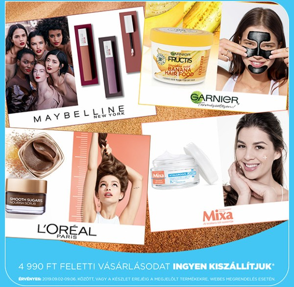AQUA akciók - Ingyen kiszállítás kozmetikai termékekre