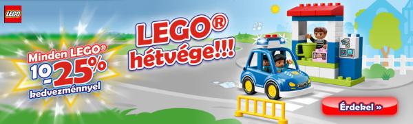 Lego hétvége! Minden Lego 10-25% kedvezménnyel!