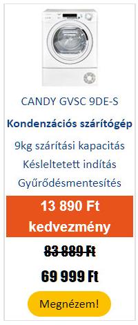 CANDY GVSC 9DE-S Kondenzációs szárítógép