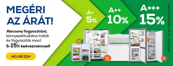 Energiatakarékos hűtőgép akció - Euronics