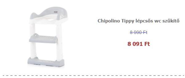Ápolási termékek akciósan - Chipolino Tippy lépcsős wc szűkítő - White 2019