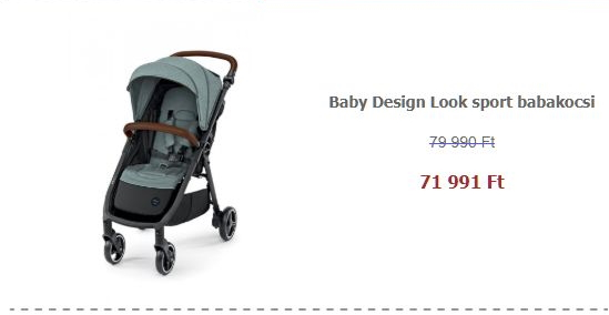 Sport babakocsi akció - Baby Design Look sport babakocsi - 05 Turquoise 2020