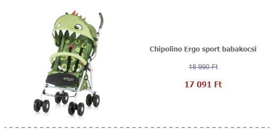 Sport babakocsi akció - Chipolino Ergo sport babakocsi - Green Baby Dragon 2019