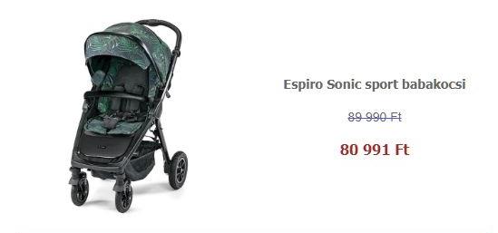 Sport babakocsi akció - Espiro Sonic sport babakocsi - 40 Jungle 2020