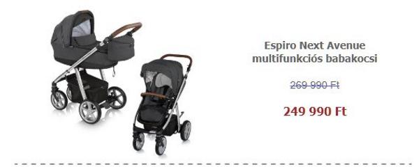 Tavaszi termékkavalkád - Espiro Next Avenue multifunkciós babakocsi