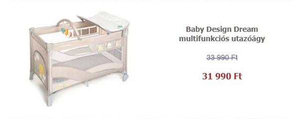 Tavaszi termékkavalkád - Baby Design Dream multifunkciós utazóágy