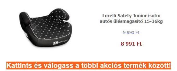 Autósülés akció – Lorelli Safety Junior isofix autós ülésmagasító 15-36kg