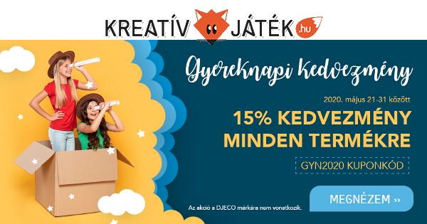 Gyereknapi Kuponakció - KreatívJáték.hu