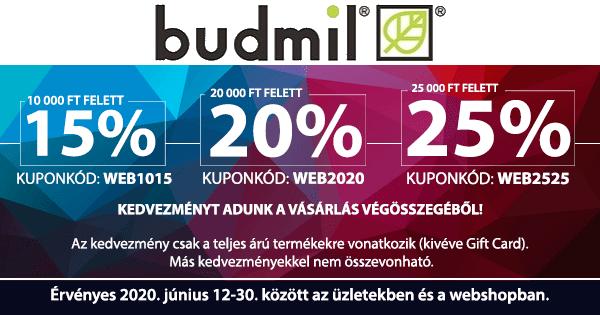 Kupon akció - budmil