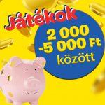 100 Ft-os vásár – 2000 - 5000 FT KÖZÖTT