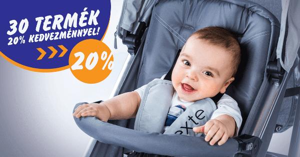 30 termék 20% kedvezménnyel - Babakocsi futár