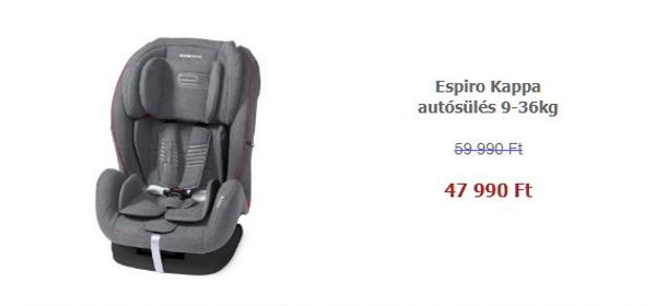 30 termék 20% kedvezménnyel - Espiro Kappa autósülés 9-36kg