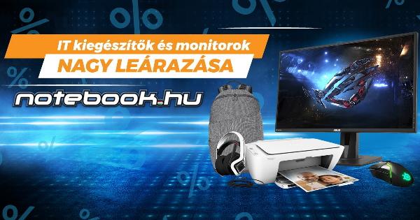 Monitor és IT kiegészítők leárazása – Notebook.hu