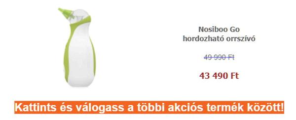 ÁPOLÁSI termékek - Nosiboo Go hordozható orrszívó